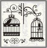 τρύγος κλουβιών πουλιών Στοκ Φωτογραφία