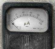 τρύγος μετρητών αμπέρ στοκ εικόνα με δικαίωμα ελεύθερης χρήσης