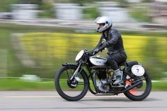 τρύγος μοτοσικλετών νεαρών δικυκλιστών 20 1932 norton Στοκ Εικόνες