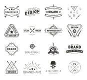 Τρύγος λογότυπων σχεδίου Στοκ Φωτογραφία