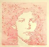τρύγος πορτρέτου γραφικής παράστασης Στοκ εικόνα με δικαίωμα ελεύθερης χρήσης