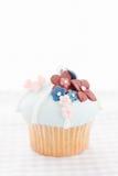 Τρύγος που διακοσμείται cupcake Στοκ φωτογραφία με δικαίωμα ελεύθερης χρήσης