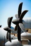 τρύγος προωστήρων αεροπλάνων στοκ εικόνες