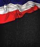 Τρύγος σημαιών Los Altos σε έναν μαύρο πίνακα κιμωλίας Grunge με το διαστημικό Φ απεικόνιση αποθεμάτων