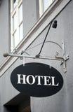 τρύγος σημαδιών ξενοδοχ&epsi Στοκ Εικόνες
