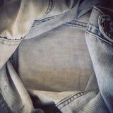 Τρύγος σύστασης Jean τζιν πλαισίων Στοκ εικόνες με δικαίωμα ελεύθερης χρήσης