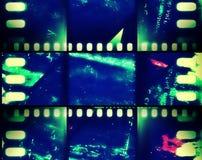Τρύγος ταινιών εμβλημάτων grunge Στοκ φωτογραφία με δικαίωμα ελεύθερης χρήσης