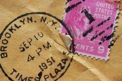 τρύγος ταχυδρομικών τελών Στοκ Εικόνες