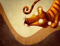 τρύγος τιγρών κινούμενων σχεδίων Στοκ Εικόνες