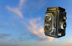 τρύγος φωτογραφικών μηχανών 35mm slr παλαιά φωτογραφία Στοκ φωτογραφία με δικαίωμα ελεύθερης χρήσης