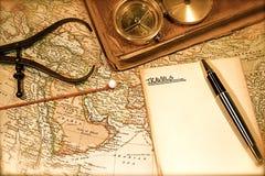 τρύγος χαρτών διαγραμμάτων Στοκ Φωτογραφίες