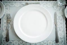 τρύγος ύφους πιάτων γευμάτων Στοκ Εικόνες