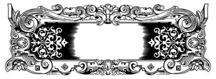 τρύγος ύφους πλαισίων woodblock Στοκ εικόνες με δικαίωμα ελεύθερης χρήσης