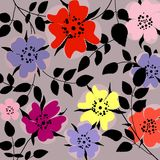 τρύγος ύφους τεχνητών λουλουδιών ελεύθερη απεικόνιση δικαιώματος