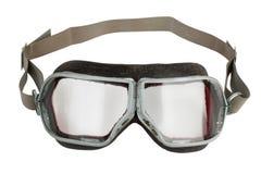 τρύγος δέρματος γυαλιών αεροπορίας Στοκ φωτογραφίες με δικαίωμα ελεύθερης χρήσης