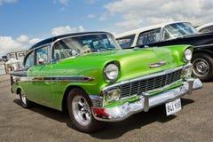 Τρύγος 1956 πράσινο Chevrolet Bel Air Στοκ Φωτογραφία