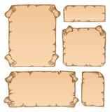 τρύγος 2 parchments συλλογής Στοκ Εικόνα