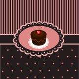 τρύγος 3 cupcake Στοκ Εικόνες