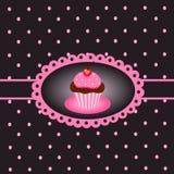 τρύγος 4 cupcake Στοκ εικόνα με δικαίωμα ελεύθερης χρήσης