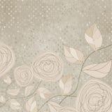 τρύγος 8 eps floral ρομαντικός τρια& Στοκ Φωτογραφίες
