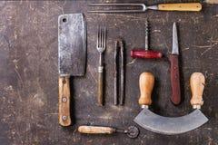 Τρύγος cookware στοκ εικόνα