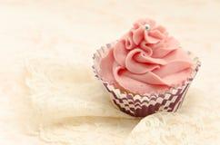Τρύγος cupcake Στοκ Φωτογραφία