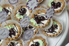 Τρύγος cupcakes που Στοκ Εικόνες