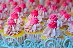 Τρύγος cupcakes που Στοκ Φωτογραφία