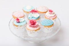 Τρύγος cupcakes στοκ φωτογραφία με δικαίωμα ελεύθερης χρήσης