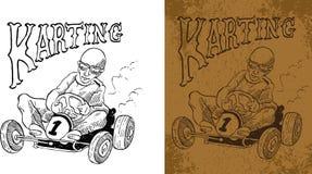 Τρύγος Karting Στοκ φωτογραφία με δικαίωμα ελεύθερης χρήσης