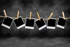 τρύγος polaroid πλαισίων σκοτεινών θαλάμων Στοκ Εικόνες