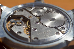 Τρύγος wristwatch χωρίς πίσω κάλυψη στοκ φωτογραφία με δικαίωμα ελεύθερης χρήσης
