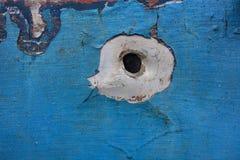 Τρύπα από σφαίρα Στοκ Φωτογραφίες
