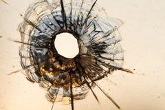 Τρύπα από σφαίρα Στοκ εικόνες με δικαίωμα ελεύθερης χρήσης