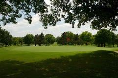 τρύπα γκολφ σειράς μαθημάτων Στοκ Εικόνες