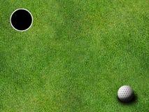 τρύπα γκολφ σφαιρών Στοκ Εικόνα