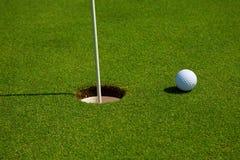 τρύπα γκολφ Στοκ Εικόνα