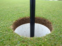 τρύπα γκολφ Στοκ φωτογραφίες με δικαίωμα ελεύθερης χρήσης
