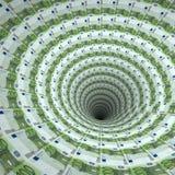 τρύπα ευρώ Στοκ Φωτογραφία