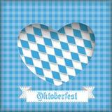Τρύπα καρδιών Oktoberfest Στοκ Εικόνα