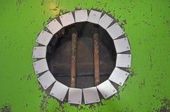 Τρύπα κύκλων στον πίνακα Στοκ Φωτογραφίες