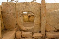 Τρύπα ναών Qim Hagar Στοκ εικόνα με δικαίωμα ελεύθερης χρήσης