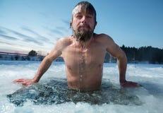 Τρύπα πάγου Στοκ φωτογραφία με δικαίωμα ελεύθερης χρήσης