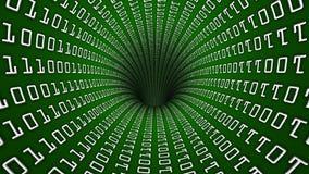 Τρύπα σηράγγων δικτύων δυαδικού κώδικα Στοκ φωτογραφίες με δικαίωμα ελεύθερης χρήσης