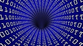 Τρύπα 60 σηράγγων δικτύων δυαδικού κώδικα fps απόθεμα βίντεο