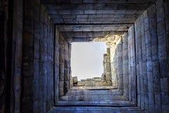 Τρύπα στον ουρανό στο ναό TA Keo Στοκ φωτογραφία με δικαίωμα ελεύθερης χρήσης