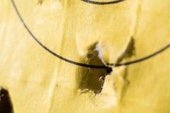 Τρύπες από σφαίρα και χτυπήματα στοκ εικόνες