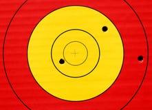 Τρύπες από σφαίρα στο στόχο Στοκ φωτογραφίες με δικαίωμα ελεύθερης χρήσης