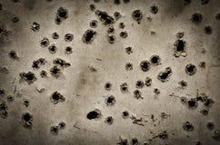 Τρύπες από σφαίρα Στοκ εικόνες με δικαίωμα ελεύθερης χρήσης