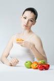 τρώγοντας τα τρόφιμα υγιή Στοκ Εικόνα